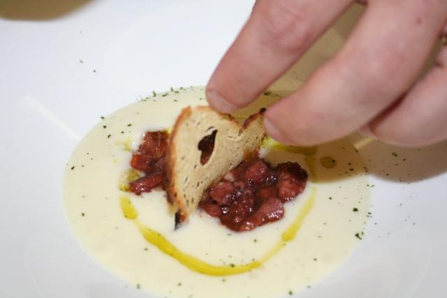 Polpo e patate dello chef Giuseppe Costa